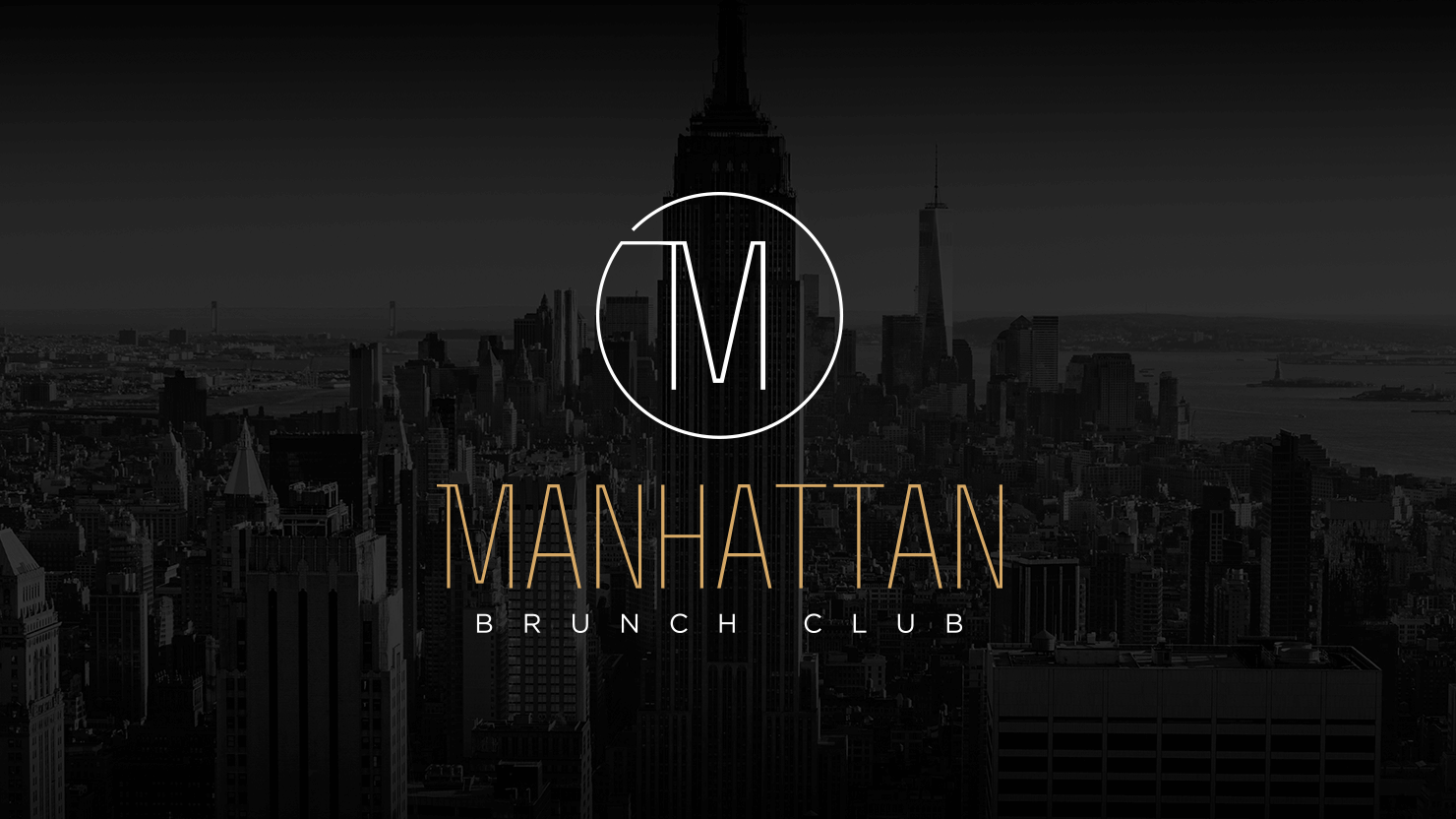 Logo design and brand identity for Manhattan Brunch Club skyline bar resorts world Birmingham