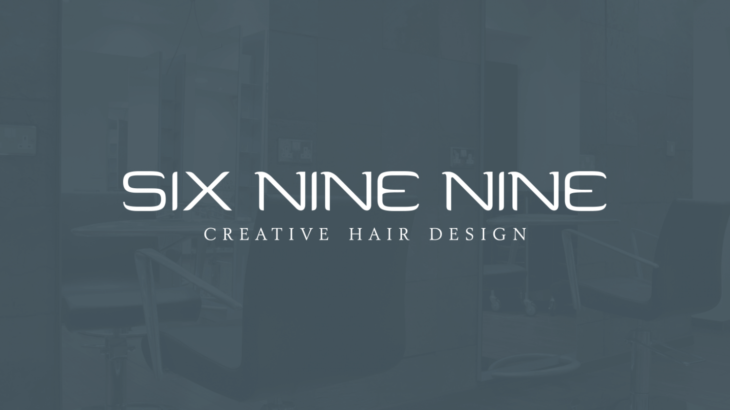 Logo design and branding for Six Nine Nine hair salon Solihull