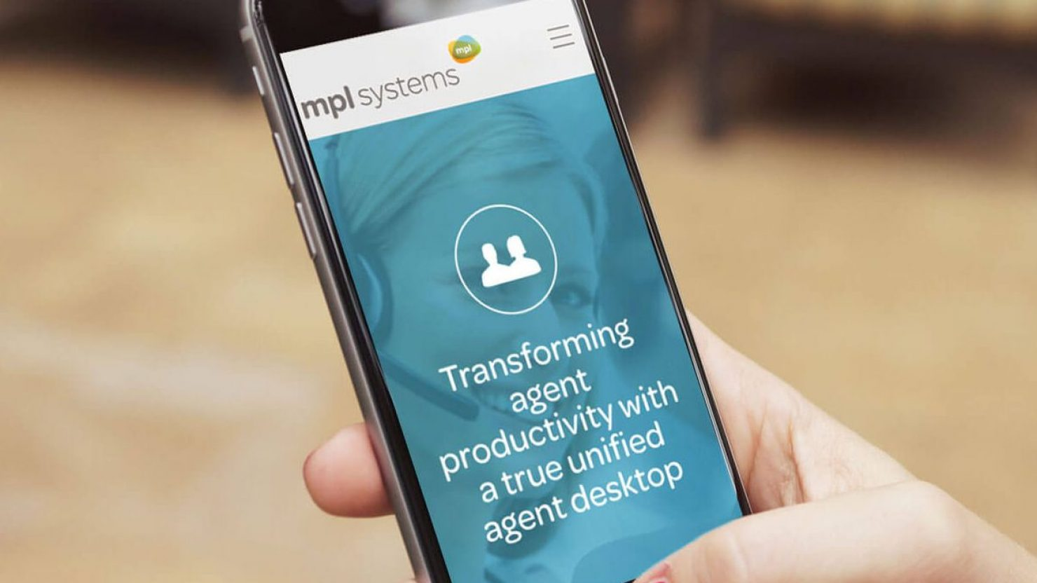 iPhone showing web design and branding for MPL Systems mobile responsive slider navigation