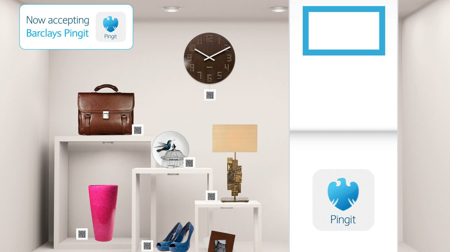 Exhibition stand design for Barclays Pingit