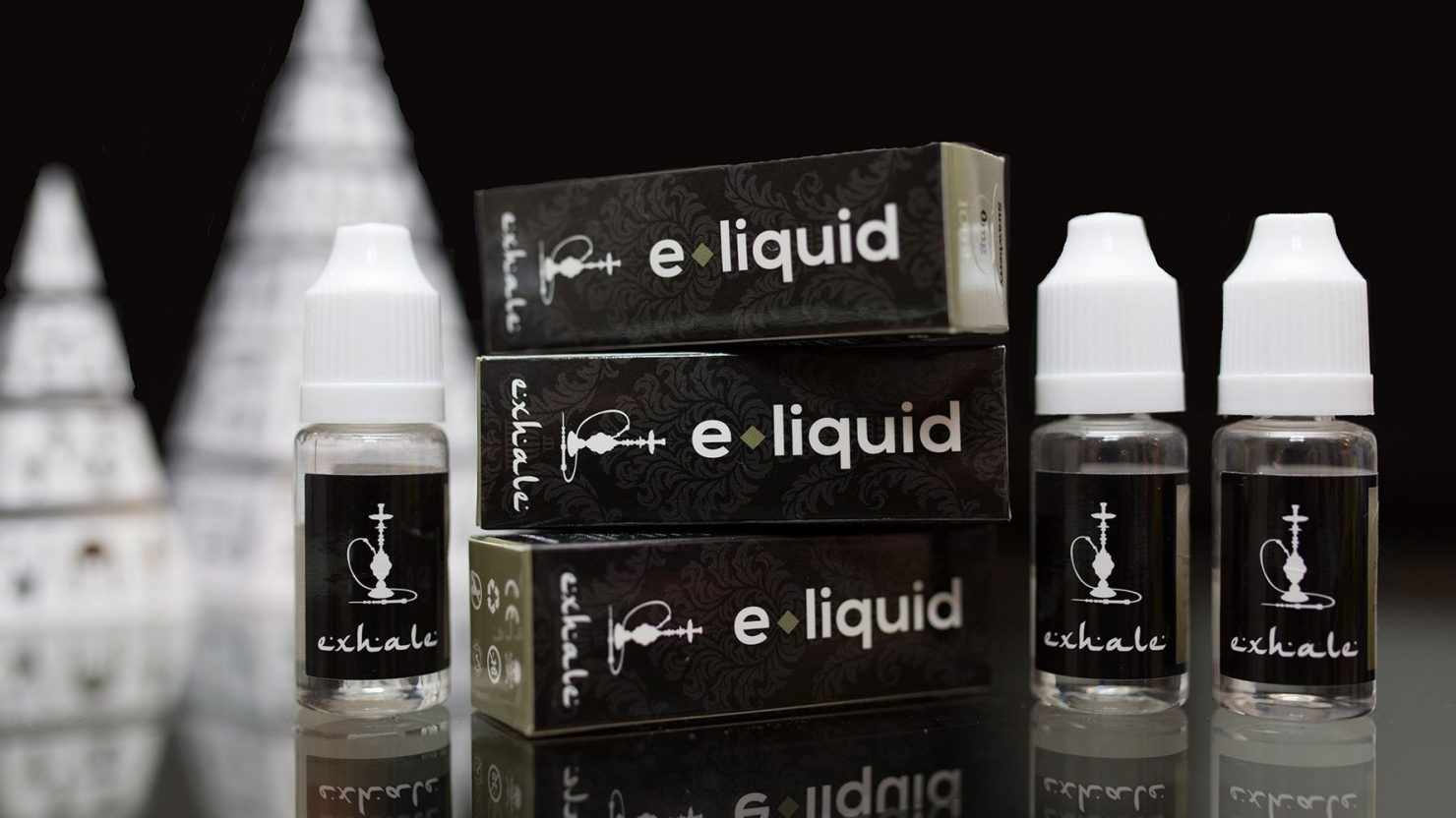 packaging design and branding for exhale shisha vape liquid