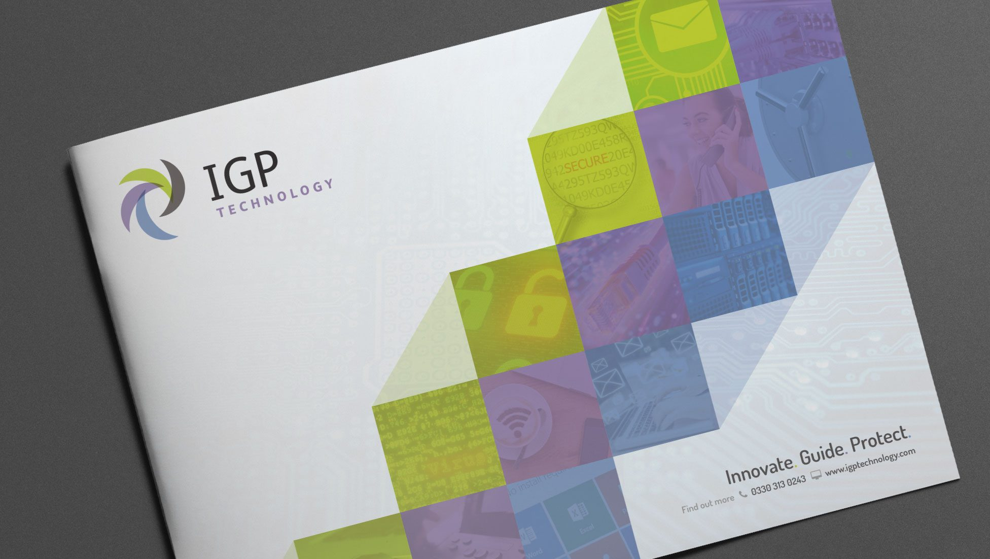 brochure design example for IGP technology birmingham