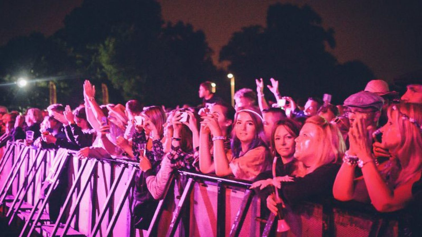 Crowd at the Solihull Summerfest Main stage in Solihull