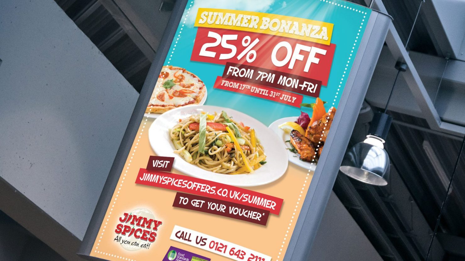 Large format display advertising for Birmingham restaurant